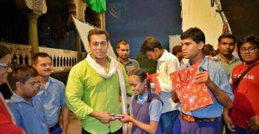 Salman Khan with specially-abled kids