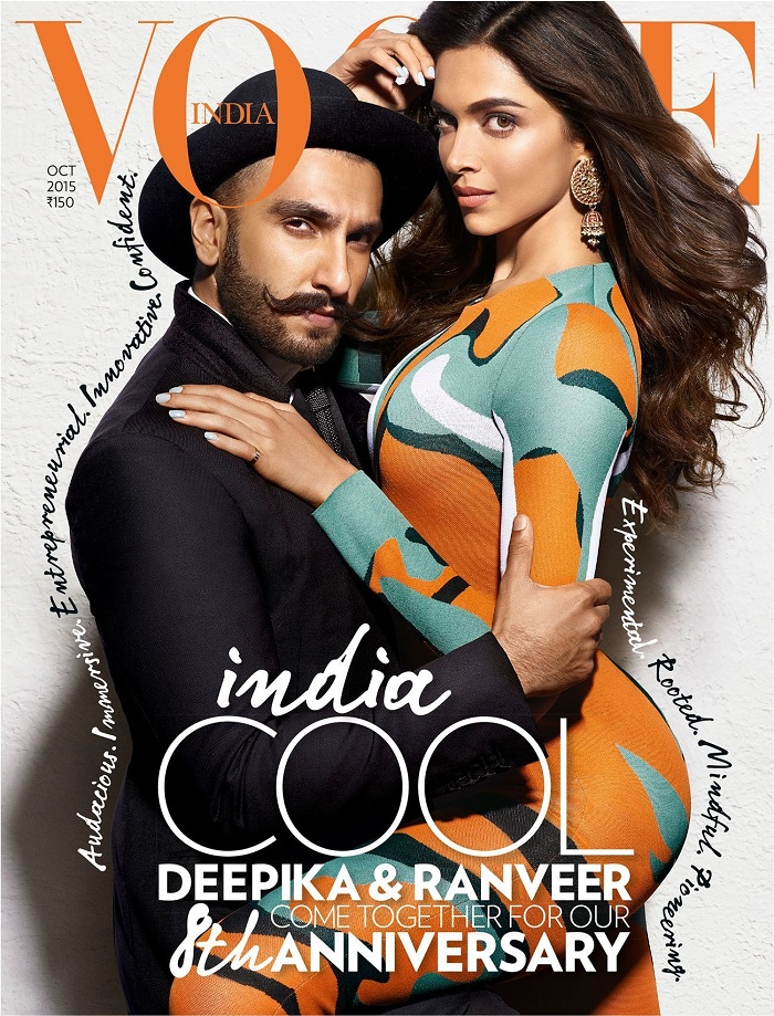 Deepika and Ranveer on Vogue India Magazine Cover