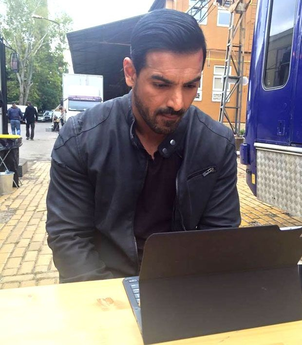 John Abraham With His Body Double On Force 2 Sets Photos