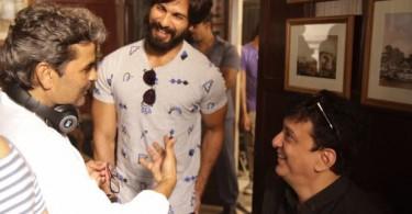 Shahid Kapoor with Vishal Bhardwaj and Shahid Nadiadwala