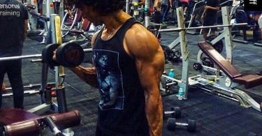 Tiger Shroff at the gym