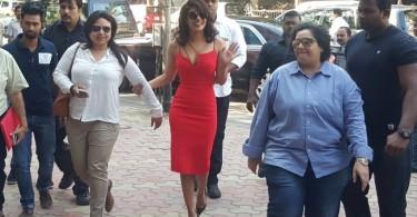 Red Hot Priyanka Chopra on her way to Jai Gangaajal Trailer launch