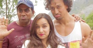 Sabbir Khan with Tiger Shroff and Shraddha Kapoor