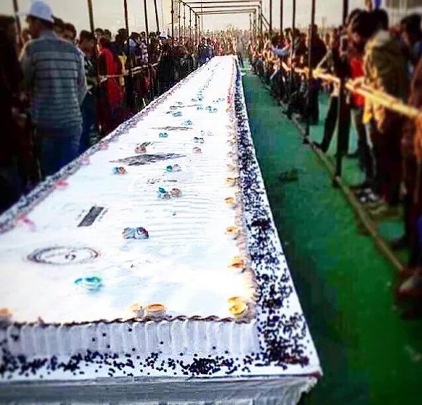 400 Feet Birthday Cake for Salman Khan in Surat