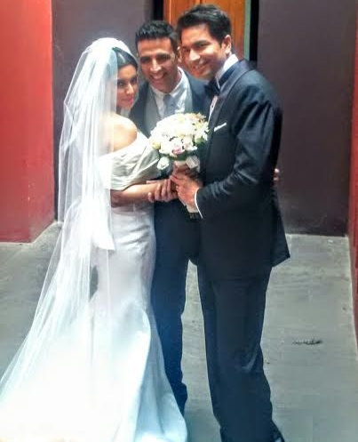 Akshay Kumar with Asin and Rahul sharma