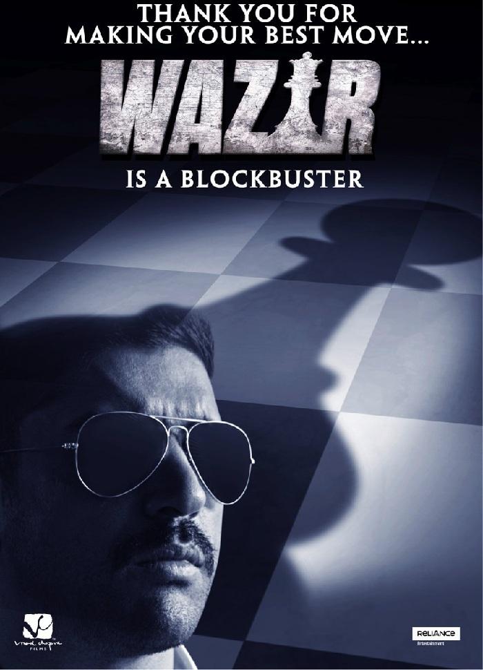 WAZIR (2016) con FARHAN AKTAR + Jukebox + Sub. Español + Online Wazir-New-Poster-Farhan-Akhtar