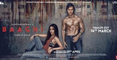 Baaghi Poster - Tiger Shroff, Shraddha Kapoor
