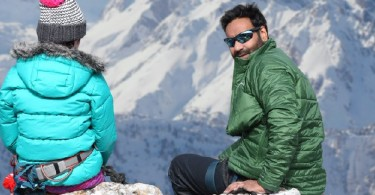 Ajay Devgn films a sequence at Bulgaria's highest peak