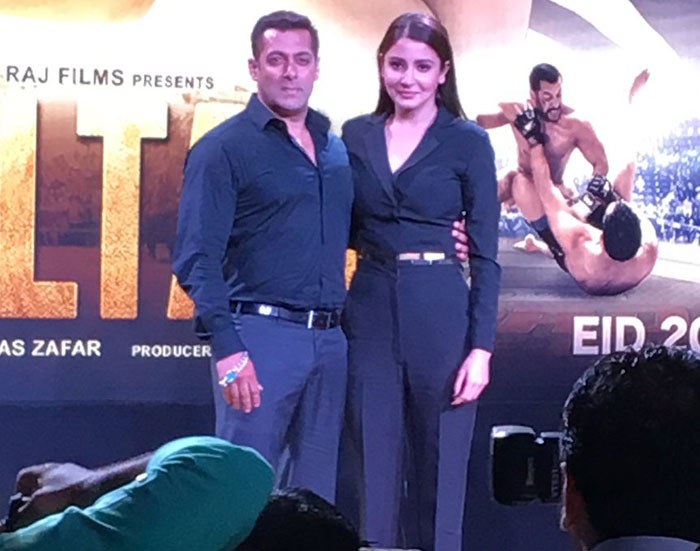 Anushka Sharma with Salman Khan