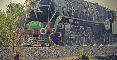 Salman Khan outrunning a train for his wrestler film Sultan