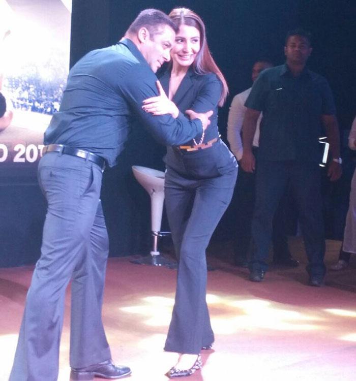 Salman wrestles with Anushka at Sultan Trailer launch