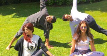 Akshay Kumar, Twinkle Khanna celebrate Yoga Day