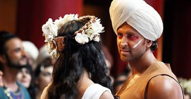 Pooja Hegde and Hrithik Roshan in a Tu Hai Song still from Mohenjo Daro