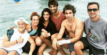 Kriti Sanon and Sushant Singh Rajput at the last day of Raabta shoot in Mauritius