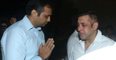 Salman Khan at Rajjat Barjatya's Prayer Meet