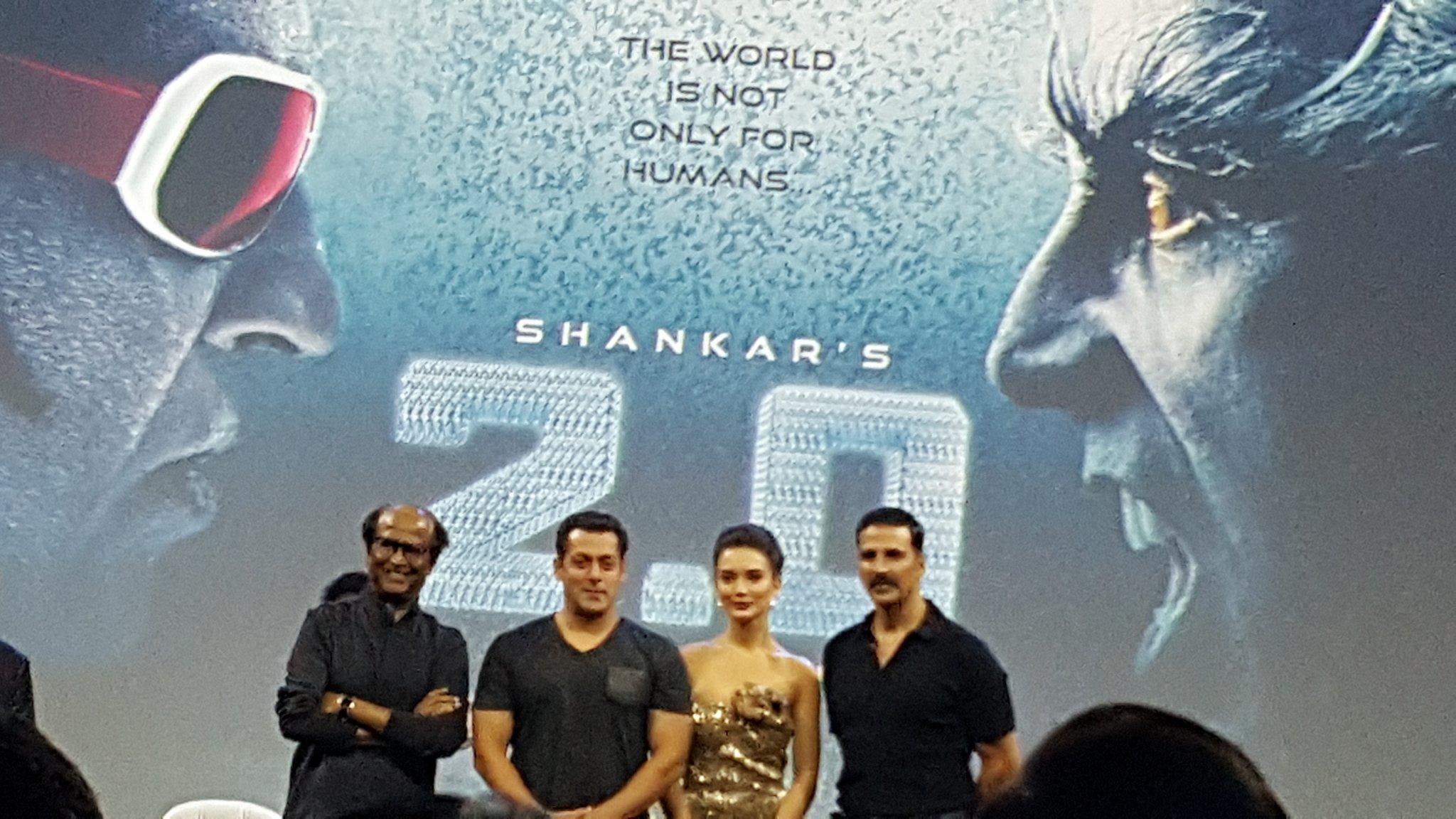 Rajnikanth - Salman Khan at 'Robot 2.0' launch