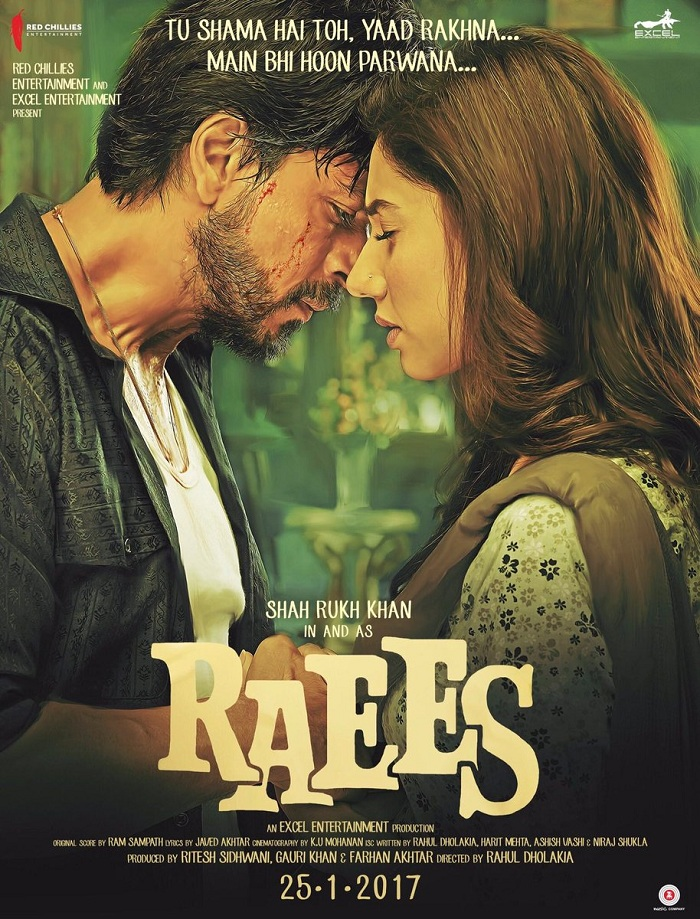 Raees Poster - Shahrukh Khan, Mahira Khan