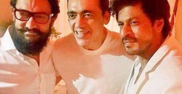 Aamir Khan, Shahrukh Khan at Ajay Bijli's birthday bash