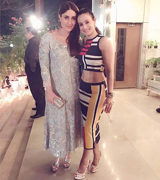 Ameesha Patel with Kareena at Randhir's birthday