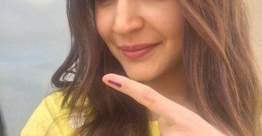Anushka Sharma after casting vote
