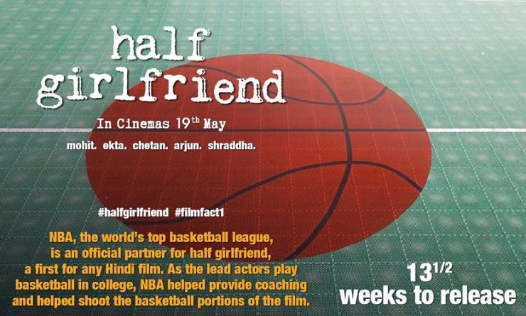 Half Girlfriend Teaser Poster