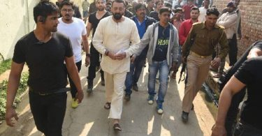 Sanjay Dutt on sets of Bhoomi