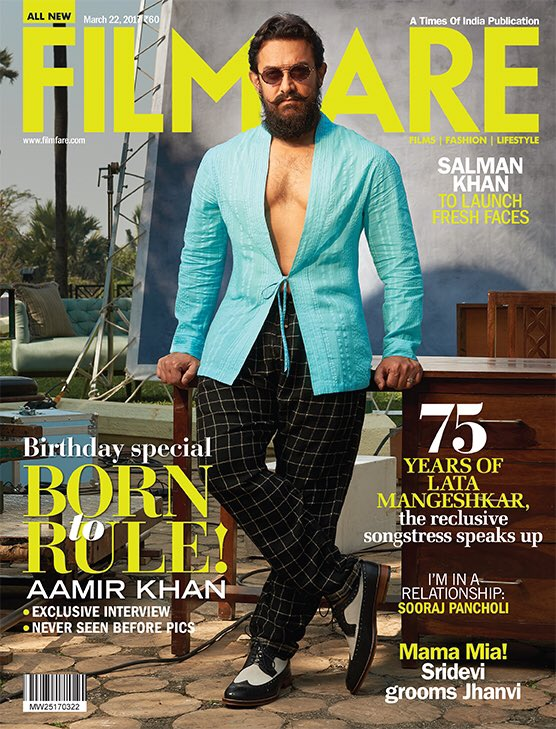Aamir Khan on Filmfare Magazine Cover