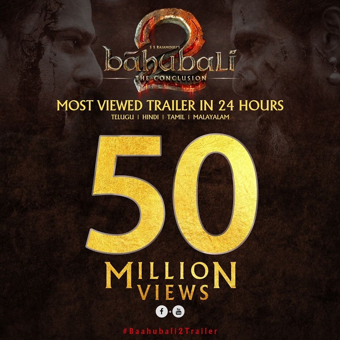 Baahubali 2 The Conclusion trailer clocks 50 million views