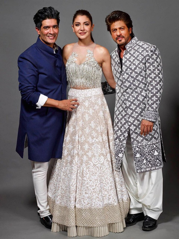 Manish Malhotra, Anushka Sharma and Shahrukh Khan