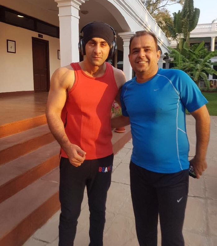 Ranbir Kapoor after a gym session