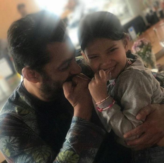 Salman Khan with his bodyguard Peter Kumar's Daughter