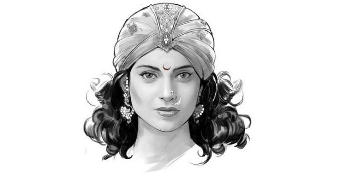 Kangana's first look as Rani Laxmibai