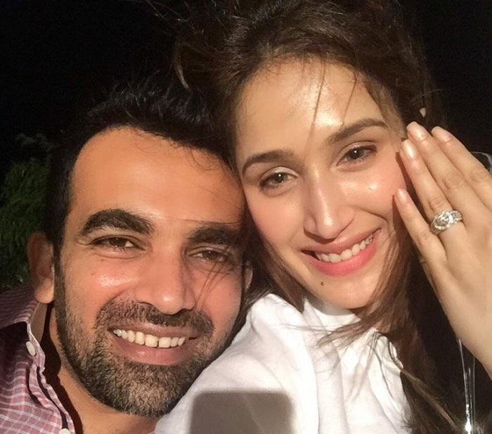 Zaheer Khan with Sagarika Ghatge