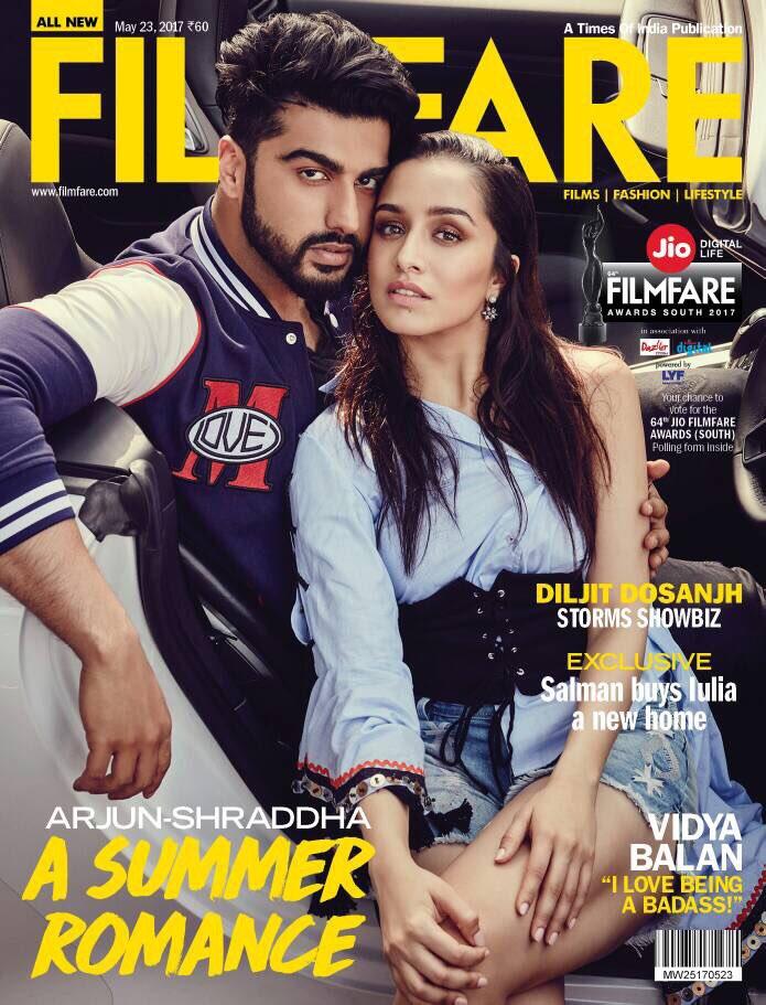 Arjun, Shraddha Kapoor on Filmfare Cover