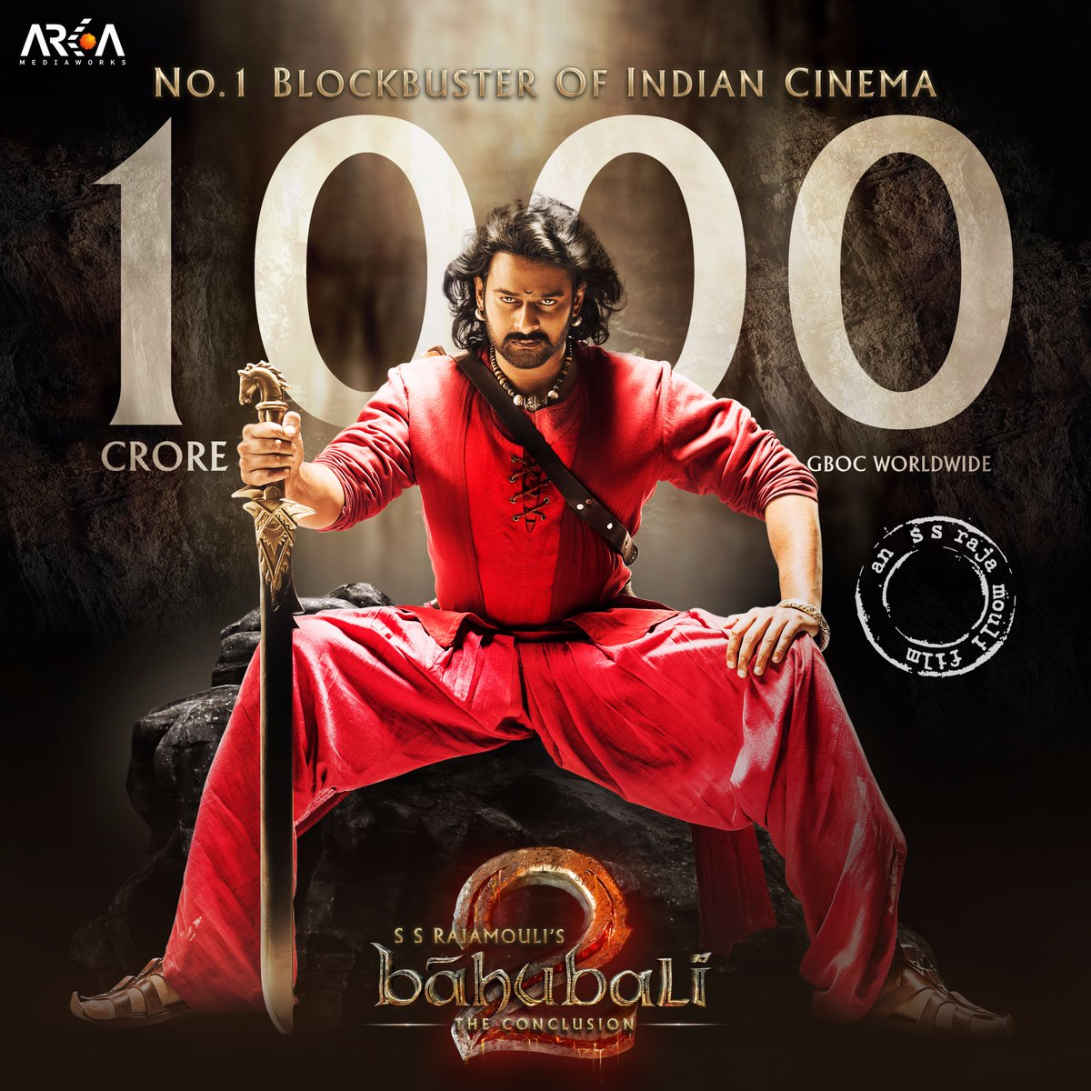 bahubali 2 becomes 1st indian film to cross 1000 crore