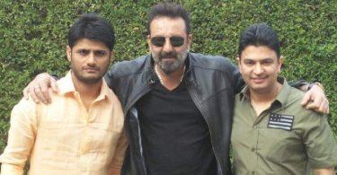 Sanjay Dutt with Bhushan Kumar, Sandeep Singh