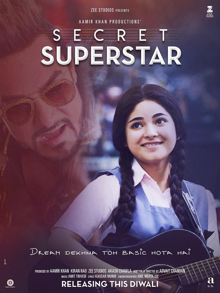 Secret Superstar Poster - Zaira Wasim