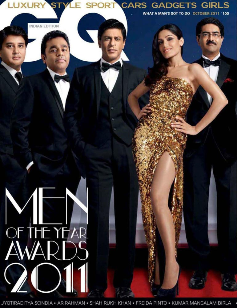 Freida Pinto on the covers of GQ India - October 2011