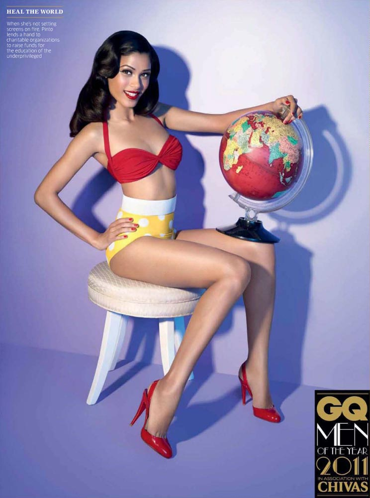 Freida Pinto - Scans from GQ India's October 2011 Issue