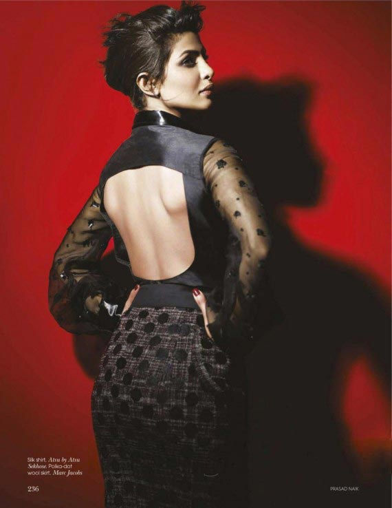 Priyanka Chopra Cover on Vogue India magazine December 2011