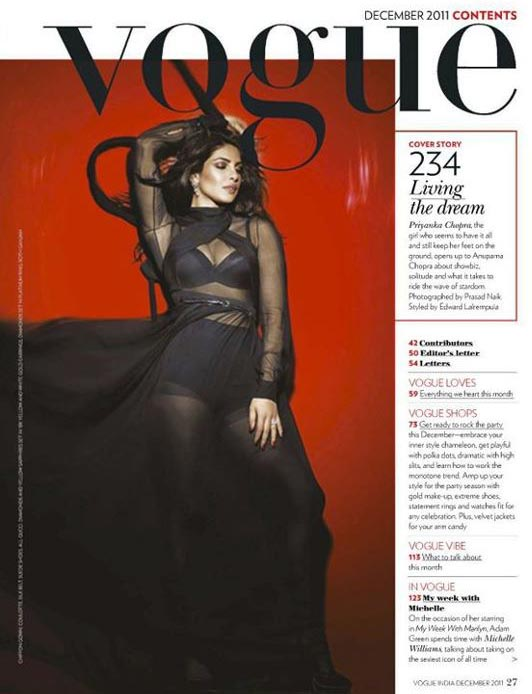Priyanka Chopra Scan from Vogue India December 2011