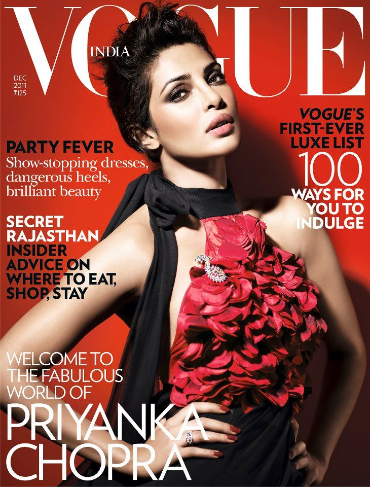 Priyanka Chopra on the cover of Vogue India December 2011