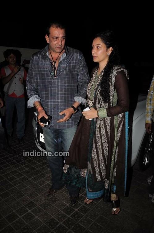 Sanjay Dutt (Kancha in Agneepath) with wife Manyata
