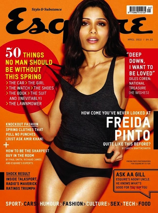 Freida Pinto on the cover of Esquire UK - April 2012