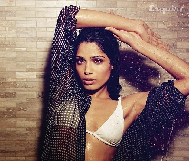 Freida Pinto Esquire UK Magazine April 2012 issue scans