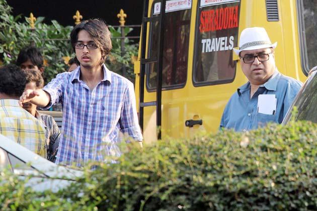Rajkumar Santoshi on the sets of Phata Poster Nikla Hero