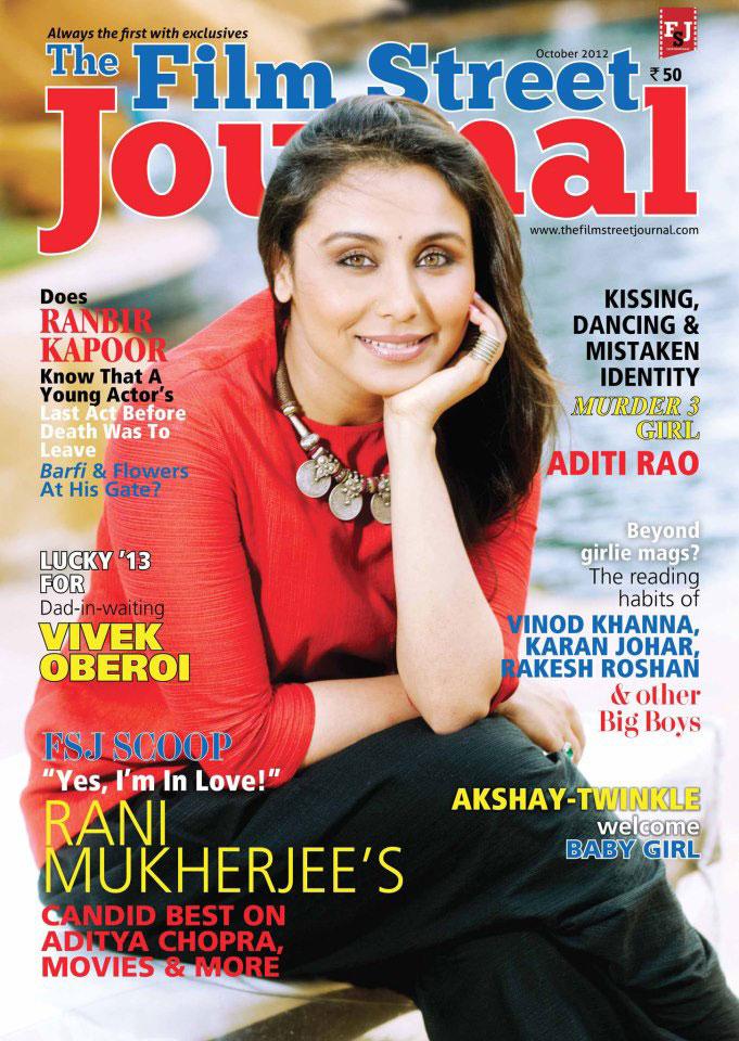 Rani Mukherjee on the cover of Film Street Journal