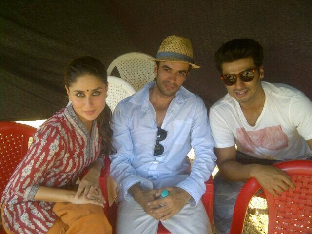 Kareena Kapoor with Arjun Kapoor and Punit Malhotra