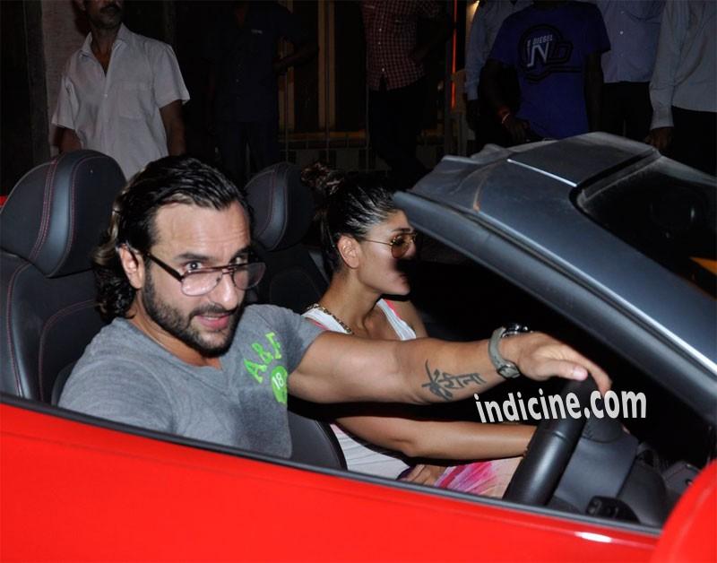 Saif Ali Khan with wife Kareena Kapoor