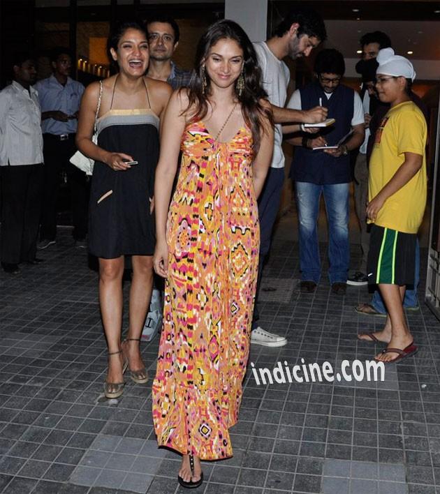 Sandhya Mridul with Aditi Rao Hydari
